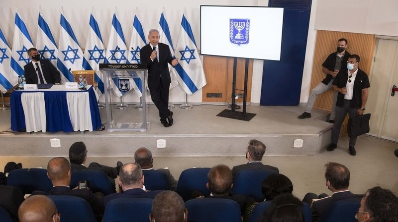 Le Premier ministre Benjamin Netanyahu et les principaux responsables sécuritaires du pays ont participé à la réunion. Le cessez-le-feu a été accepté à l'unanimité par Israël et le Hamas (archives).