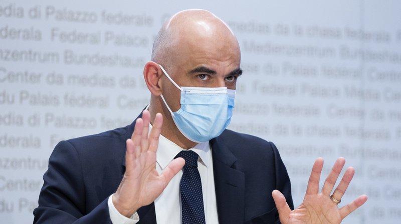 Alain Berset s'est exprimé mercredi à Berne en conférence de presse.