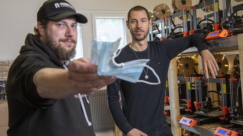 A Vernayaz, chaque jour, on imprime en 3D 12000 clips anti-buée vendus dans le monde entier