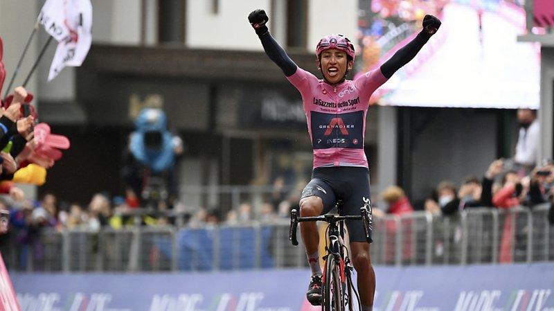 Cyclisme – Giro: Egon Bernal a remporté en solitaire la 16e étape
