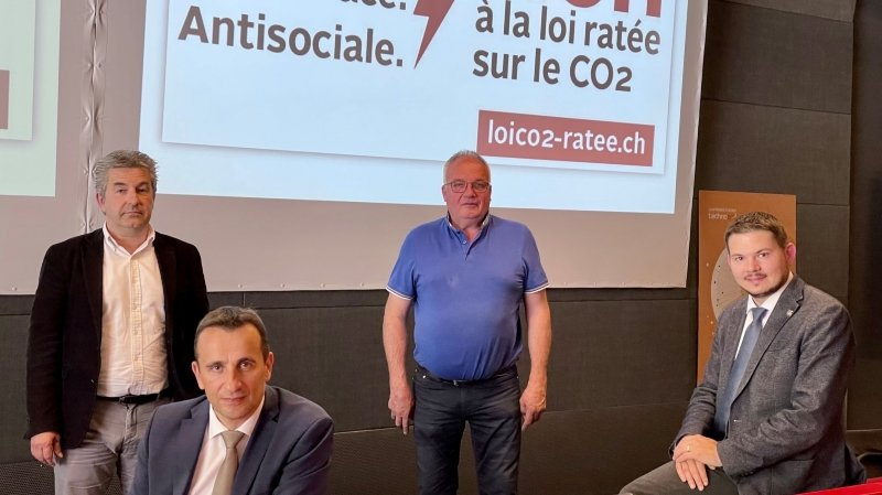 Fabrice Theytaz, Sidney Kamerzin, Xavier Moret et Grégory Logean estiment que le Valais serait lourdement pénalisé si la loi CO2 était acceptée le 13 juin prochain.
