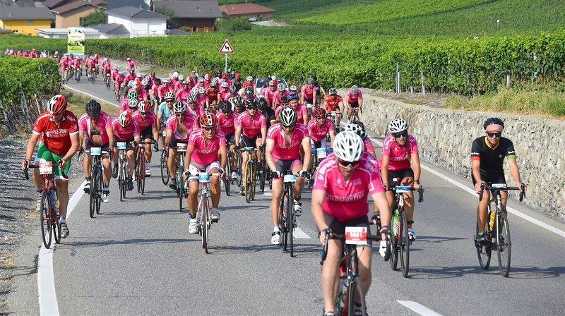 Cyclisme: le peloton de la Cyclosportive des Vins du Valais va à la rencontre du Haut-Valais