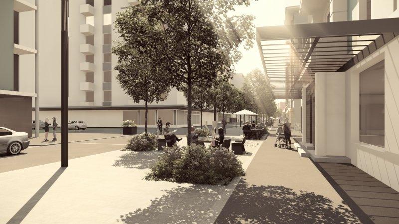 La future avenue de la Gare accueillera quatre salons urbains et autant d'œuvres aujourd'hui connues.