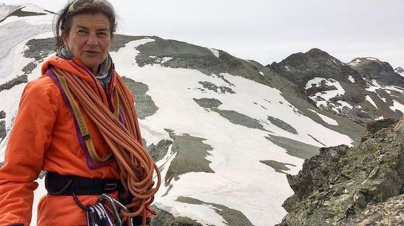 Josette Valloton est en train d'écrire l'une des plus belles pages de la montagne valaisanne.