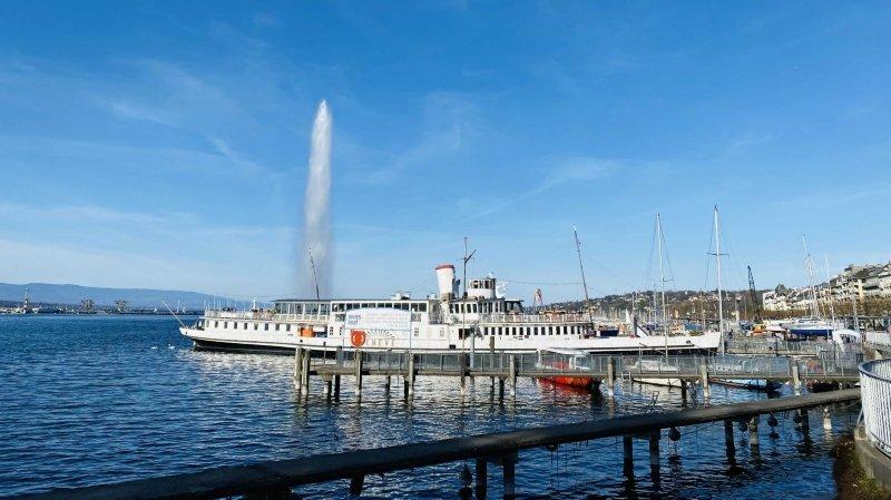 Valais Network a choisi un bateau de la CGN et le jet de Genève pour lever le voile sur son programme.