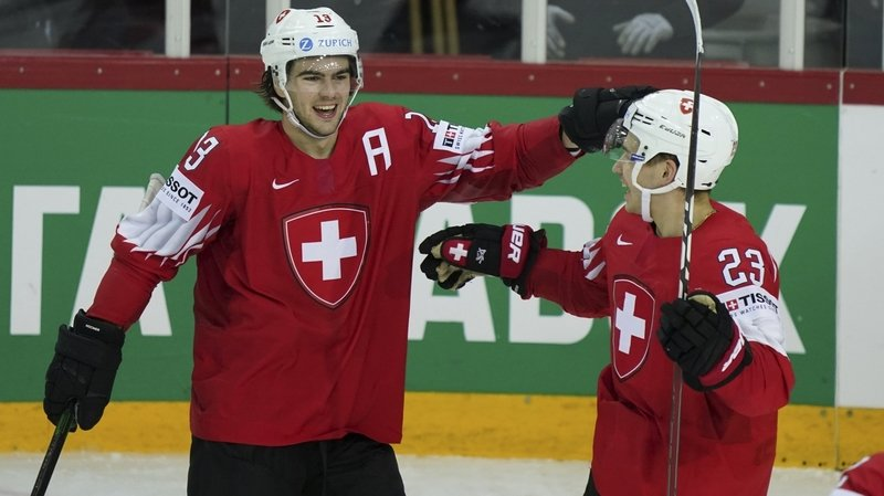 Hockey: Nico Hischier unique buteur d'une Suisse défaite par la Russie