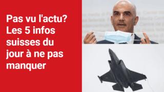 Les 5 infos à retenir dans l'actu suisse de ce mercredi 30 juin