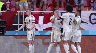 Au coeur de l'Euro: la Belgique bat le Danemark et se qualifie