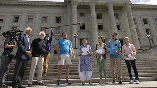 Appel pressant des militants du climat devant le Tribunal fédéral
