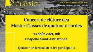 Concert de clôture des Master Classes
