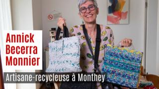 Les sacs d'Annick Becerra Monnier, artisane-recycleuse à Monthey