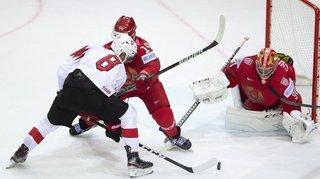 Hockey: Vincent Praplan malheureux, mais la Suisse victorieuse face à la Biélorussie