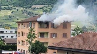 Début d'incendie dans un bâtiment de Riddes