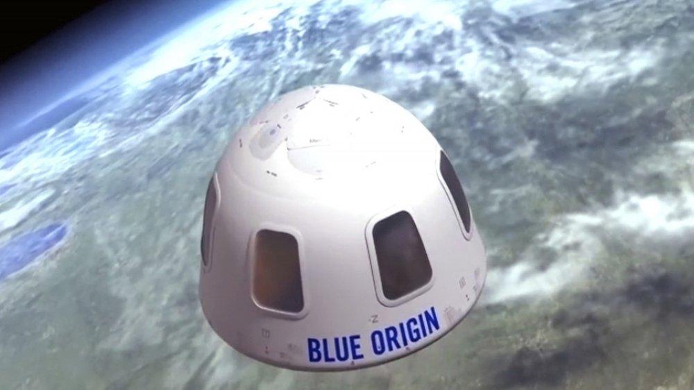 La capsule dans laquelle des touristes embarqueront pour aller quelques minutes dans l'espace.