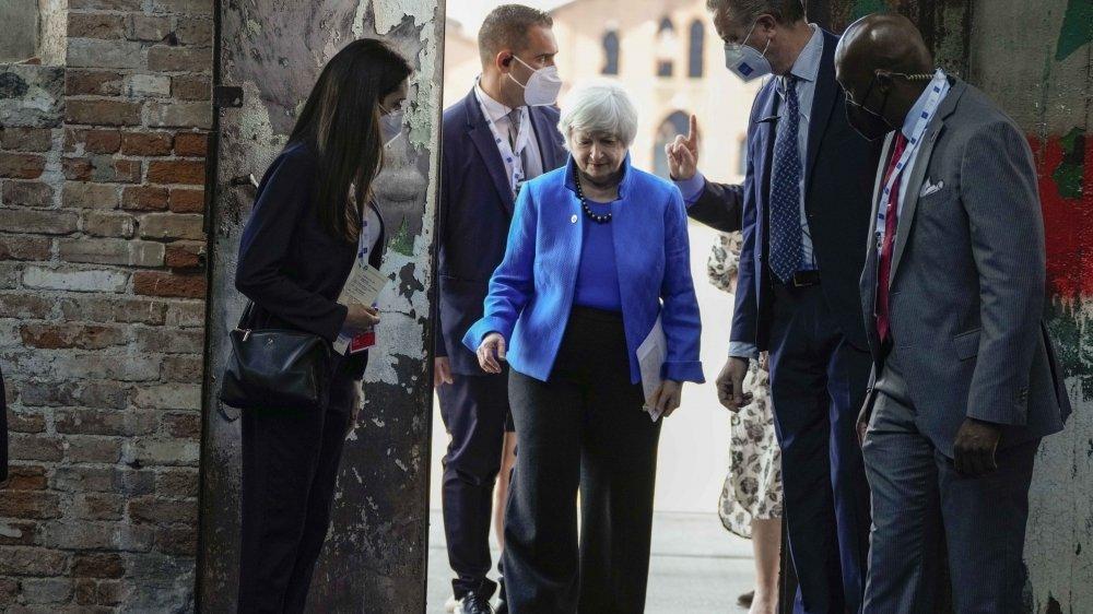 Présente à la réunion du G20 à Venise, la secrétaire américaine au Trésor Janet Yellen a appelé l'Union européenne à reconsidérer son projet de taxe numérique.