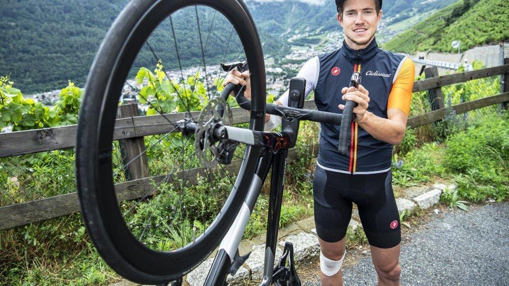 Arnaud Tissières disputera dimanche sa première course nationale.