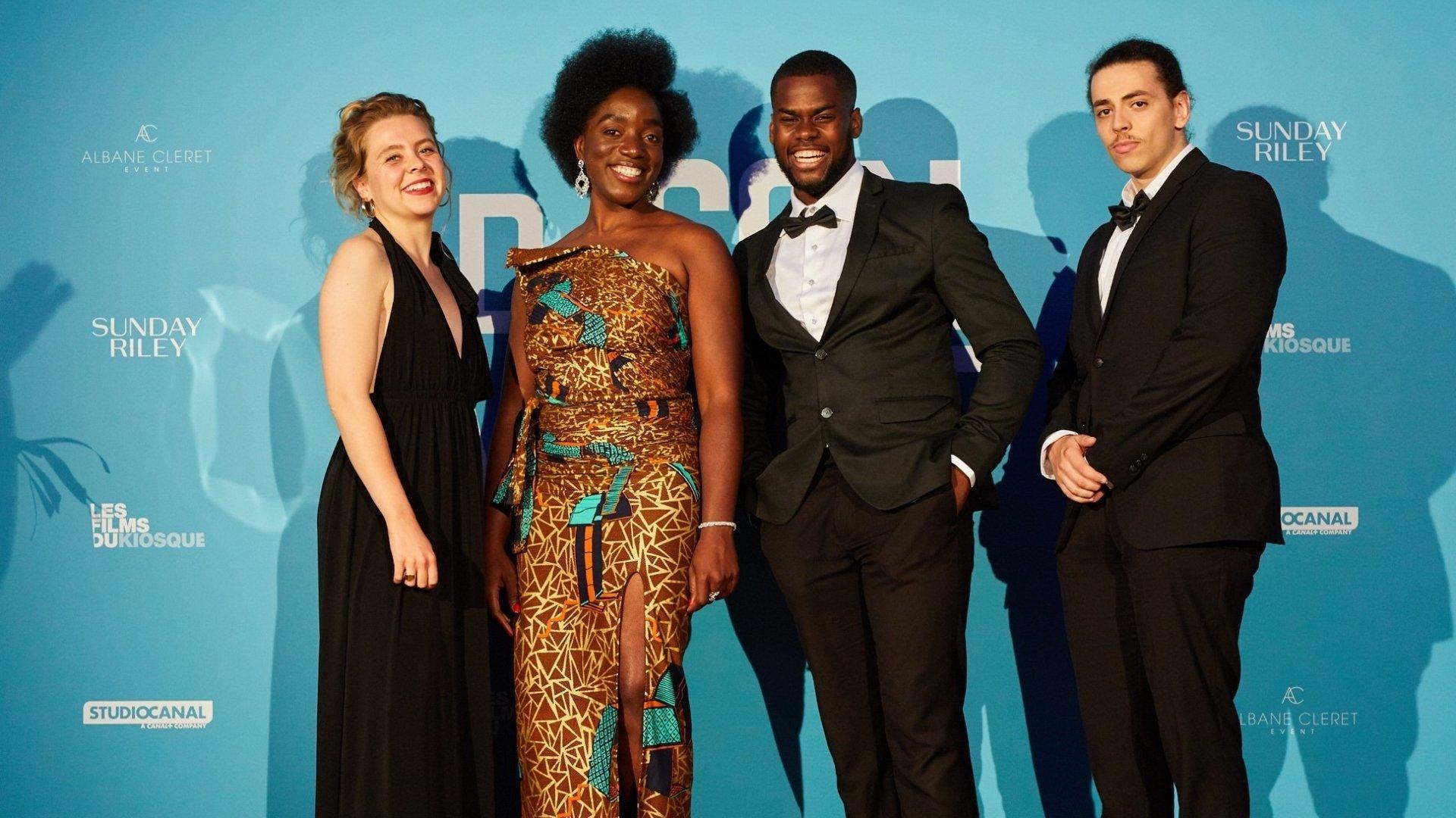 Chloé Zufferey (tout à gauche sur la photo) a savouré tous les moments passés sur la Croisette.