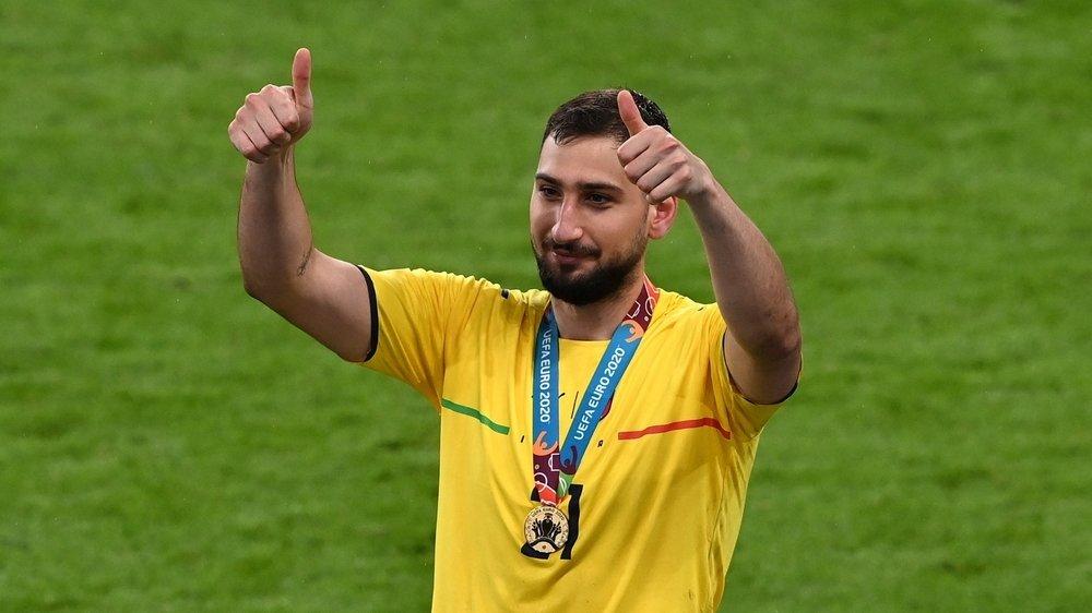 Gianluigi Donnarumma est ressorti victorieux de deux séances de tirs au but avec l'Italie.