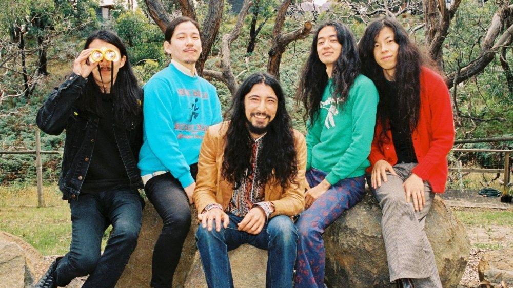 Le groupe japonais Kikagaku Moyo, de retour en 2021.