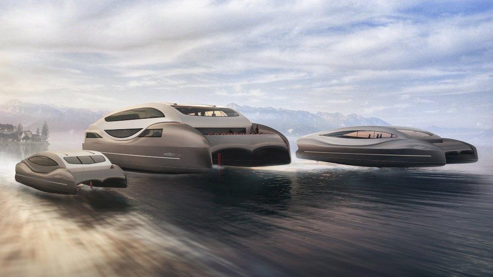 MobyFly entend faire naviguer des bateaux mesurant de 10 à 30 mètres et capables de transporter 12, 60 ou 300 passagers.