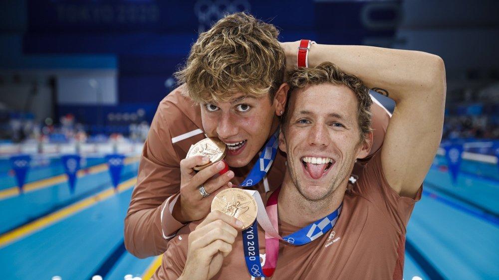Noè Ponti et Jérémy Desplanches n'ont récolté que les deuxième et troisième médailles olympiques pour la Suisse en natation.
