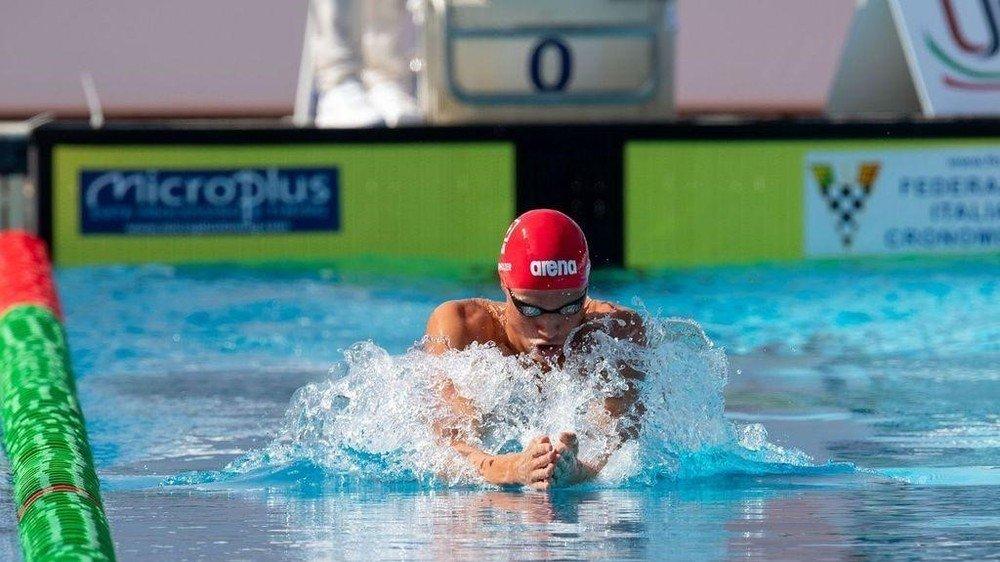 Solan Oberholzer dispute une série éliminatoire lors des championnats d'Europe juniors de Rome.