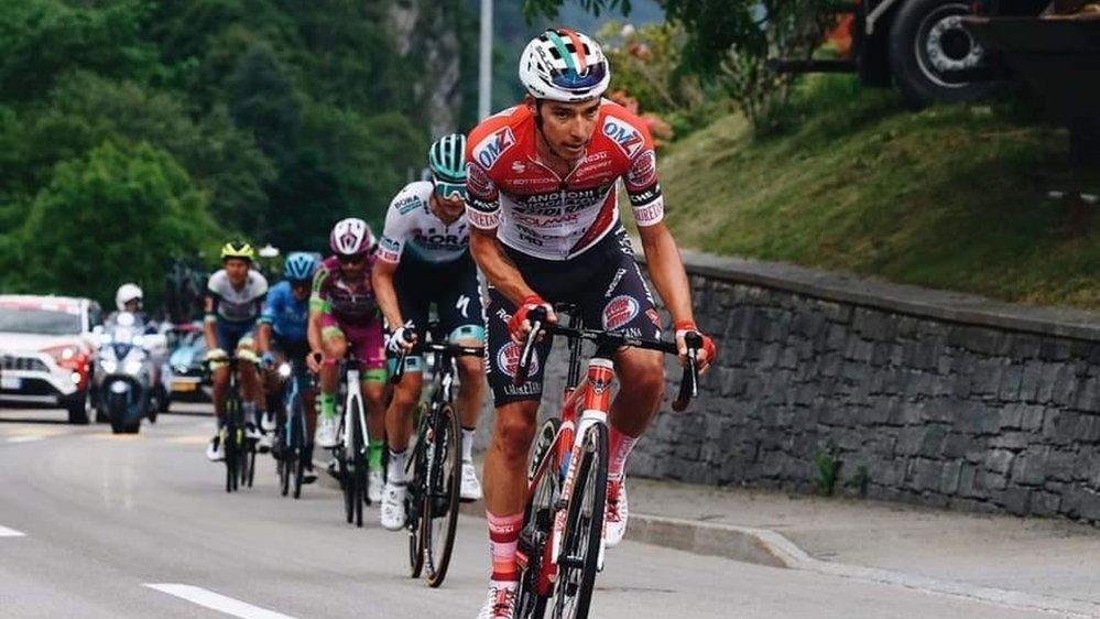 Simon Pellaud s'est retrouvé malgré lui à jouer le maillot de la montagne.