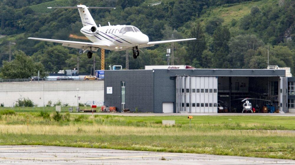 L'aéroport valaisan enregistre une hausse d'activité dans le secteur de l'aviation privée.