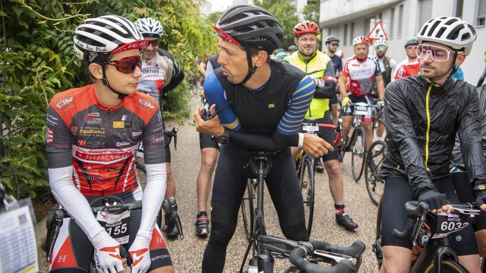 Vice-président de la Cyclosportive des vins du Valais, Steve Morabito apprécie autant aller à la rencontre des bénévoles que des autres cyclistes.