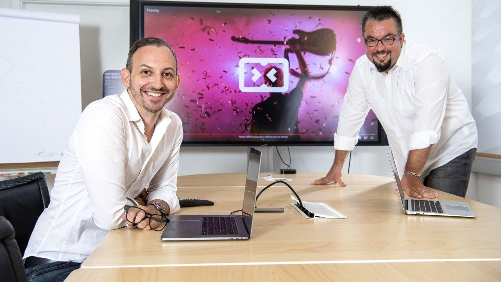 Thierry Mottiez et Christian Desclouds font partie des cinq cofondateurs de Strimly.