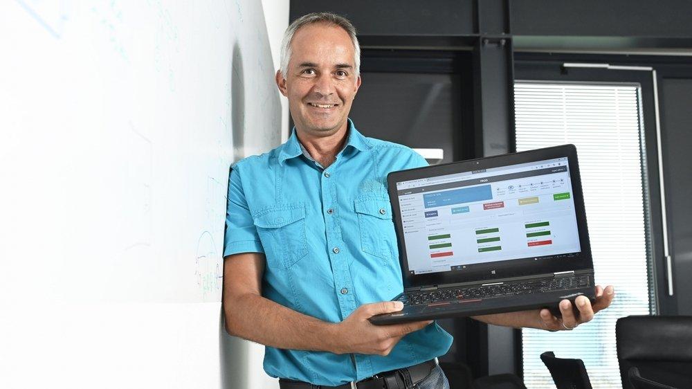 Dirigée par Yves Fontannaz, la société sédunoise Proactive a développé l'outil informatique à travers lequel le canton a traité les demandes d'aides à fonds perdu des cafetiers-restaurateurs, des fitness ainsi que des commerces.