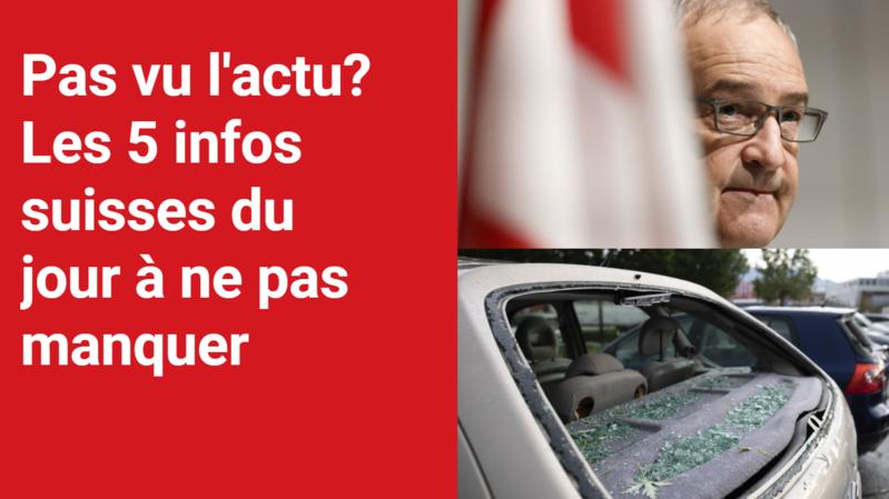 Les 5 infos à retenir dans l'actu suisse de ce vendredi 23 juillet
