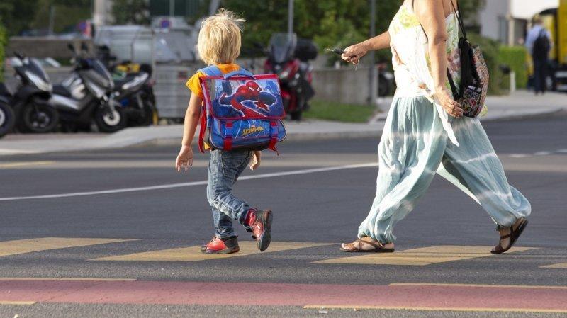 Entre 1992 et 2020, 18'156 accidents ont eu lieu sur le chemin de l'école en Suisse. (illustration)