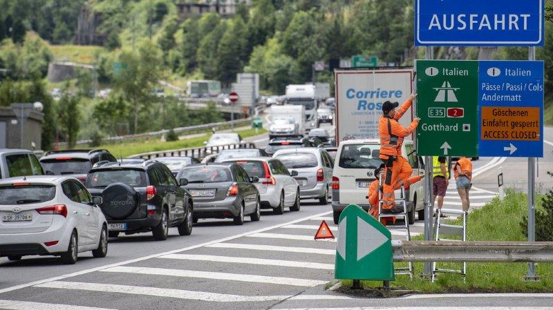 Le canton d'Uri ferme l'autoroute du Gothard entre Flüelen et Amsteg en raison du danger d'inondations de la Reuss (ILLUSTRATION).