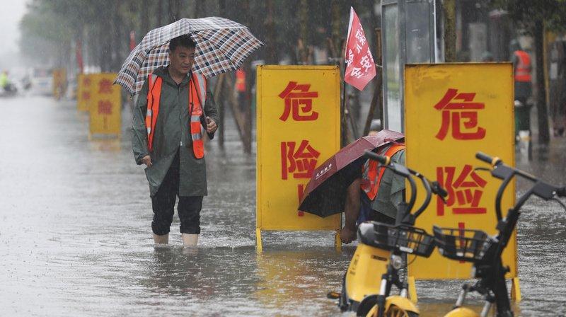 En trois jours, la ville de Zhengzhou a vu tomber l'équivalent d'un an de pluie.