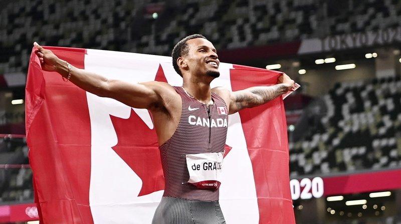 JO 2021 – Athlétisme: le Canadien Andre De Grasse sacré champion olympique du 200 m