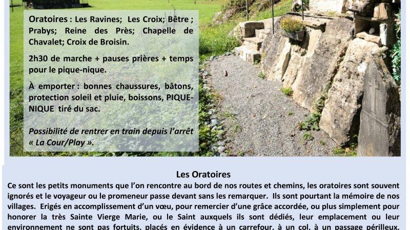 Marche autour des oratoires Champéry/Val d'Illiez