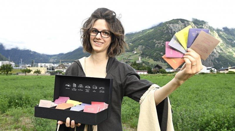 La créatrice de tisanes Dame Elia de Vernayaz a élaboré six thés différents pour promouvoir les musées de la ville de Martigny.