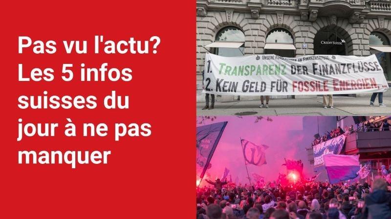 Les 5 infos à retenir dans l'actu suisse de ce lundi 26 juillet