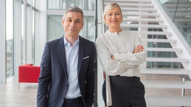 Elisabeth Logean et Pierre-Olivier Volet, le duo qui dirigera l'actualité TV de la RTS dès septembre.