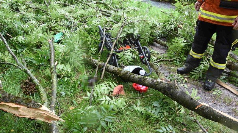 Alerte rouge: des violents orages se sont de nouveau abattus sur la Suisse centrale. Un bébé succombe à ses blessures.