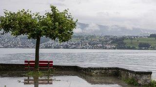 Intempéries: situation autour des lacs encore critique en Suisse