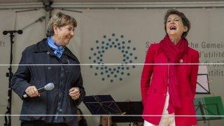 Fête nationale: les femmes célèbrent les 50 ans du droit de vote au Grütli