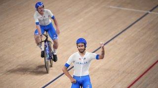 JO 2021 et cyclisme sur piste: or et record du monde pour l'Italie en poursuite, la Suisse 8e