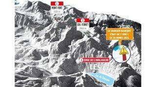 Mont-Fort: un snowboardeur condamné après une avalanche