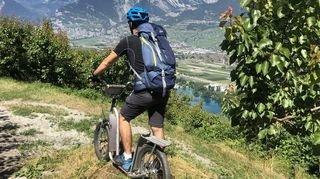 Thyon: testez une descente en trottinette de 25 kilomètres