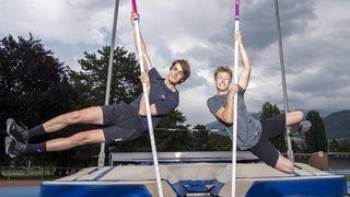 Athlétisme: Valentin Imsand et Justin Fournier sont inséparables, à la vie comme sur la piste