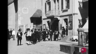 Le groupe folklorique le Vieux Salvan, dans les années 1930