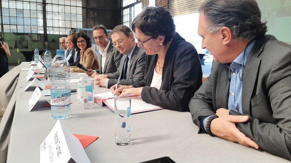 Les autorités cantonales et communales se sont réunies à Monthey pour signer le projet de quatrième génération.