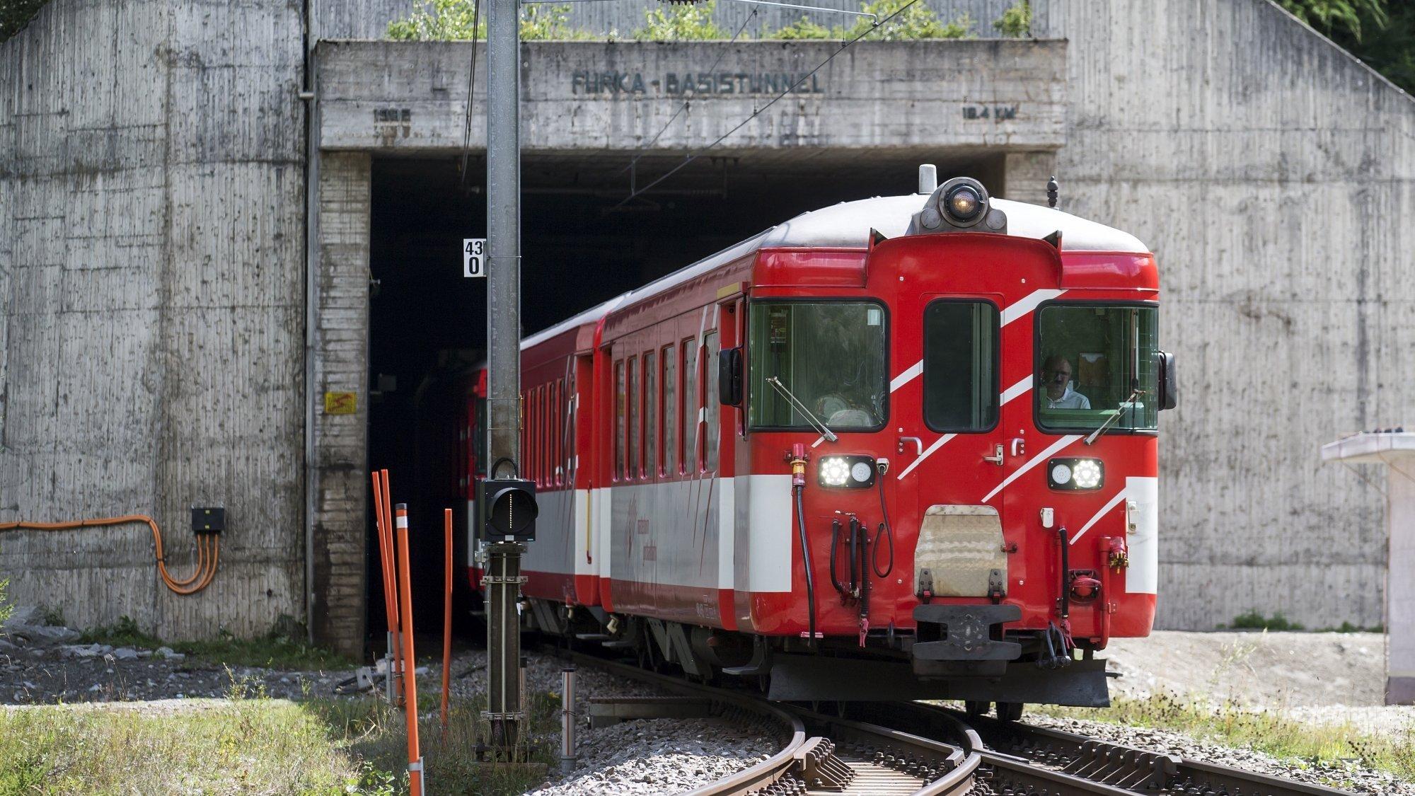Un projet analogue au tunnel de la Furka (photo) est envisagé sous le Grimsel.